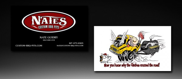 Nates Custom BBQ Pits Business Card Design
