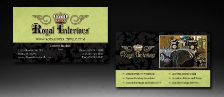 Royal Interiors - Business Card Design