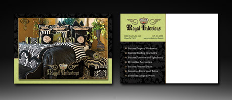 Royal Interiors Postcard Design